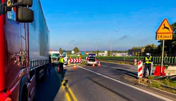 Wypadek na wjeździe do Białegostoku, fot. KMP Białystok