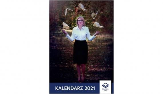 Kalendarz biblioteki publicznej w Łapach na 2021 rok, źródło: bibliotekalapy.pl