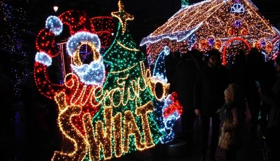 Świąteczne iluminacje na Starym Rynku w Łomży, fot. Adam Dąbrowski