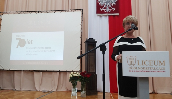 III Liceum Ogólnokształcące w Białymstoku świętuje 70-lecie istnienia, fot. Ryszard Minko