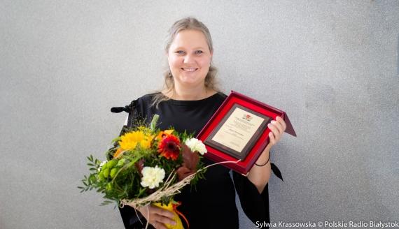 Anna Petrovska z nagrodą, fot. Sylwia Krassowska