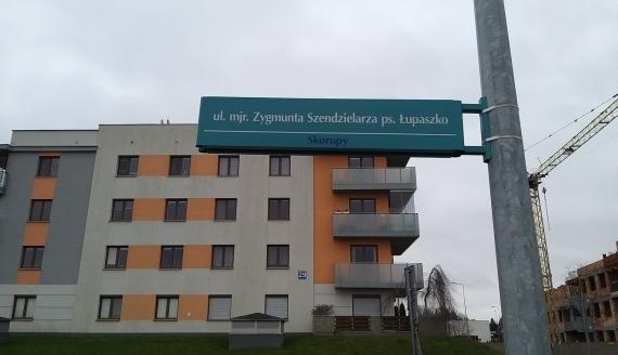 """Ulica majora Zygmunta Szendzielarza """"Łupaszki"""" w Białymstoku, fot. Wojciech Szubzda"""