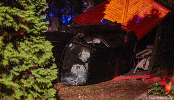 Wypadek na ulicy Wojska Polskiego w Łomży, fot. Paweł Wądołowski