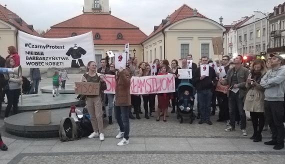 Protest w Białymstoku, fot. Edyta Wołosik
