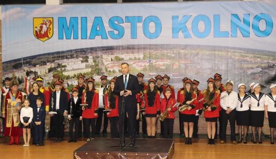 Prezydent Andrzej Duda w Kolnie, 9.01.2020, fot. Wojciech Szubzda