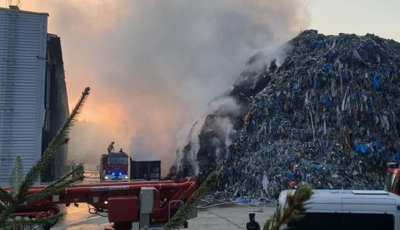 Pożar w Studziankach, autor fot. Sebastian Ptaszyński