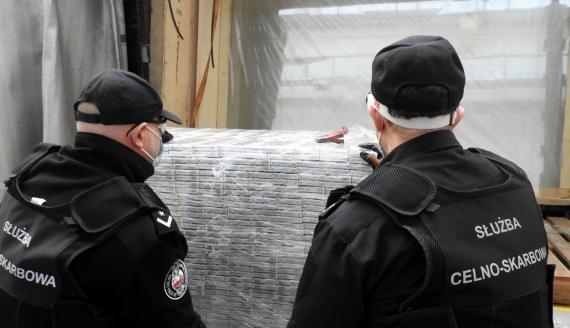 Podlaska KAS przechwyciła nielegalne papierosy warte 4,5 mln zł, fot. Podlaska KAS