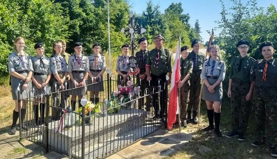 Białostoccy harcerze oddali hołd poległym w czasie wojny polsko-bolszewickiej, fot. Wojciech Szubzda