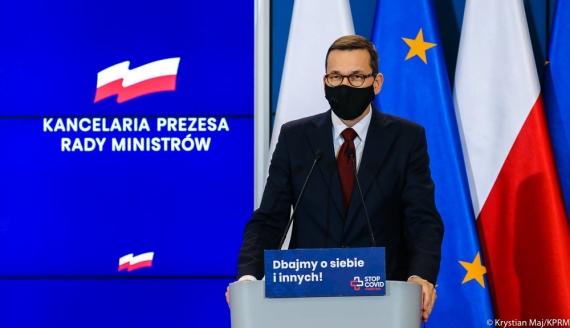 Premier Mateusz Morawiecki, źródło: Krystian Maj/ KPRM