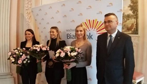 Natalia Maliszewska wróciła z brązowym medalem do Białegostoku. Wiceprezydent pogratulował jej sukcesu, fot. Edyta Wołosik