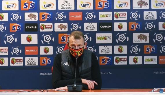 Trener Jagiellonii Białystok Bogdan Zając