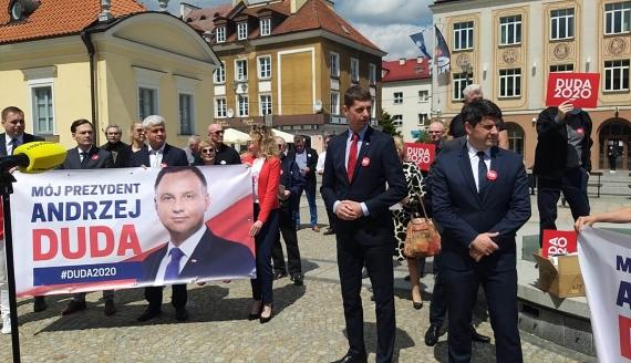 Sztab Andrzeja Dudy zapowiada spotkania wyborcze w Podlaskiem, fot. Edyta Wołosik