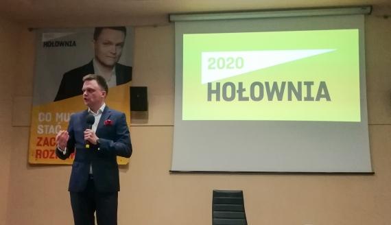 Szymon Hołownia na spotkaniu w Białymstoku, fot. Michał Buraczewski