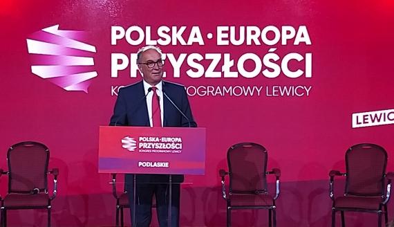 Włodzimierz Czarzasty na kongresie Lewicy w Białymstoku - fot. Ryszard Minko