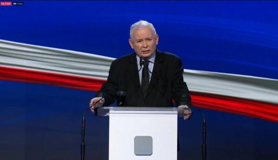 Jarosław Kaczyński, źródło: Print Screen z transmisji facebook.com/pisorgpl