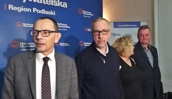 Konferencja prasowa Bogdana Zdrojewskiego w Białymstoku, 21.01.2020, fot. Edyta Wołosik
