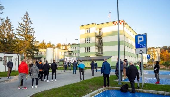 Protest pod szpitalem w Augustowie, fot. Marta Sołtys