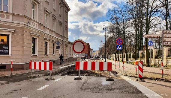 Remont ulicy Giełczyńskiej w Łomży, fot. Paweł Wądołowski