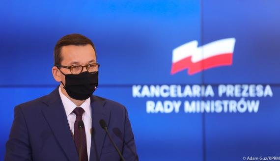 Premier Mateusz Morawiecki, źródło:Adam Guz/ KPRM