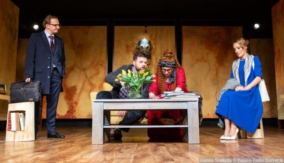 """Premiera spektaklu """"Bóg mordu"""" w Teatrze Dramatycznym, fot. Joanna Szubzda"""