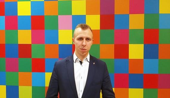 Wiceprezes Związku Młodzieży Wiejskiej Michał Zarzecki - fot. Renata Reda