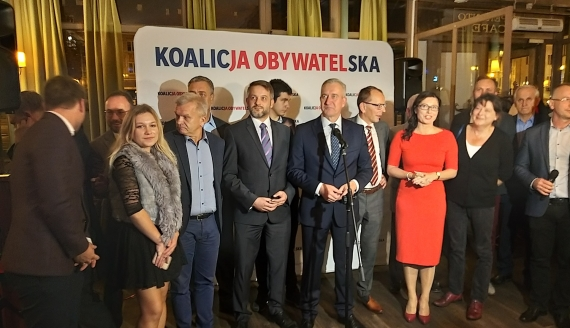 Sztab wyborczy KO, fot. Grzegorz Pilat