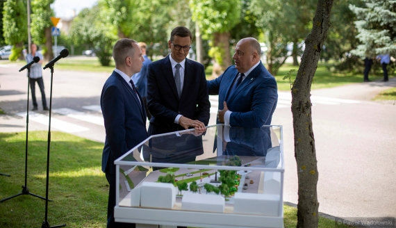 Wizyta premiera Mateusza Morawieckiego w Grajewie, fot. Paweł Wądołowski