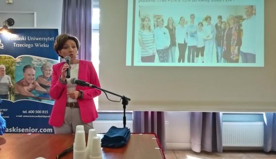 Marlena Maląg - minister RPiPS w Kleosinie, fot. Michał Buraczewski