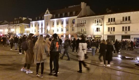 Kolejny dzień protestów kobiet w Białymstoku, fot. Ryszard Minko