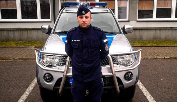 Sierżant Paweł Popławski, źródło: podlaska.policja.gov.pl