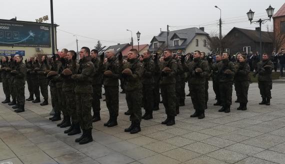Ponad 50 żołnierzy WOT złożyło w Brańsku ślubowanie, fot. Michał Buraczewski