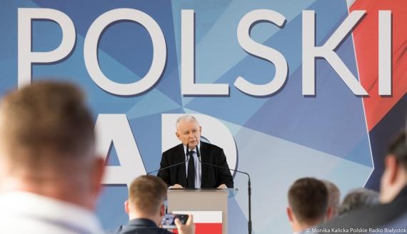 Wizyta prezesa PiS Jarosława Kaczyńskiego w Wysokiem Mazowieckiem, fot. Monika Kalicka