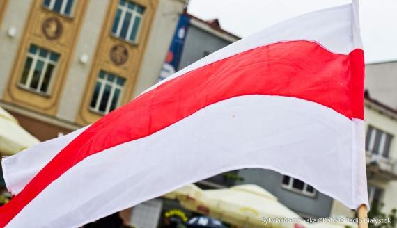 """Demonstracja """"Solidarni z Białorusią"""" w Białymstoku, fot. Sylwia Krassowska"""