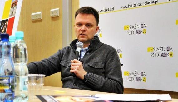 """Spotkanie z Szymonem Hołownią, Festiwal """"Autorzy i Książki"""" w Białymstoku, fot. Sylwia Krassowska"""