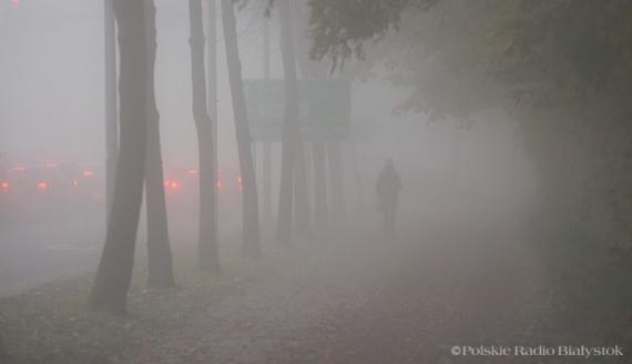 Mgła w Białymstoku, fot. Joanna Żemojda