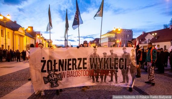 Białostocki Marsz Pamięci Żołnierzy Wyklętych, 2020, fot. Joanna Szubzda