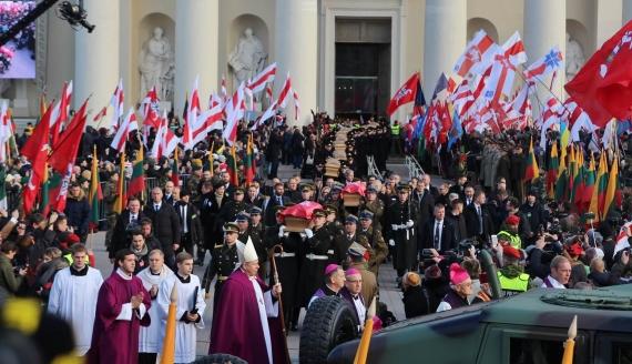 Pogrzeb powstańców styczniowych w Wilnie, 22.11.2019, fot. Wojciech Szubzda