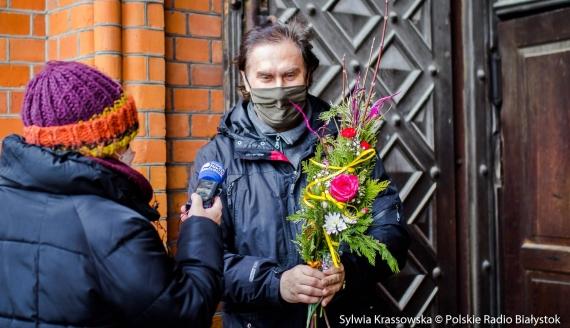 Białostoczanie święcą palmy, fot. Sylwia Krassowska