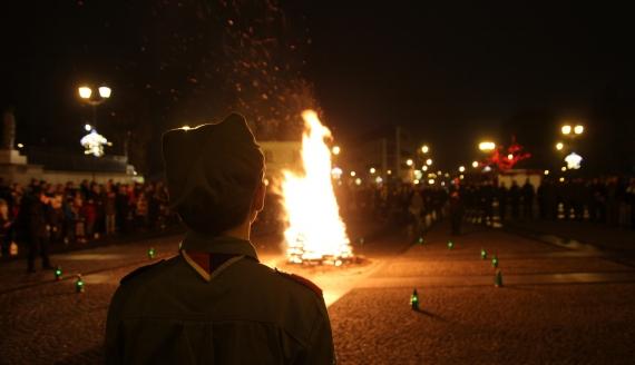 Uroczyste przekazanie Betlejemskiego Światła Pokoju w Białymstoku, fot. Marcin Gliński