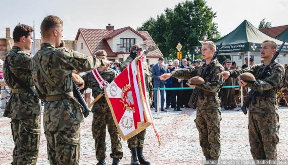 Przysięga żołnierzy 1. PBOT w Tykocinie, fot. Joanna Szubzda