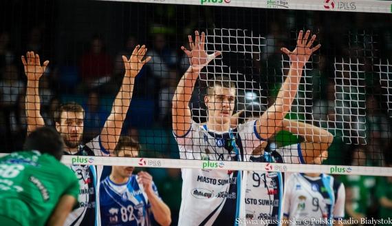 Siatkarze Ślepska Malow Suwałki wygrali 3:1 mecz z AZS-em Olsztyn, fot. Sylwia Krassowska