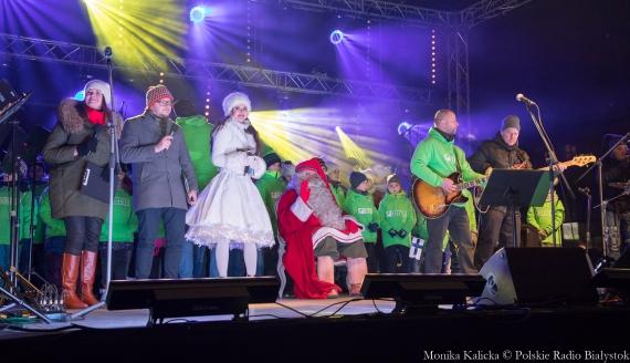 Spotkanie z Mikołajem z Rovaniemi na Rynku Kościuszki w Białymstoku, fot. Monika Kalicka