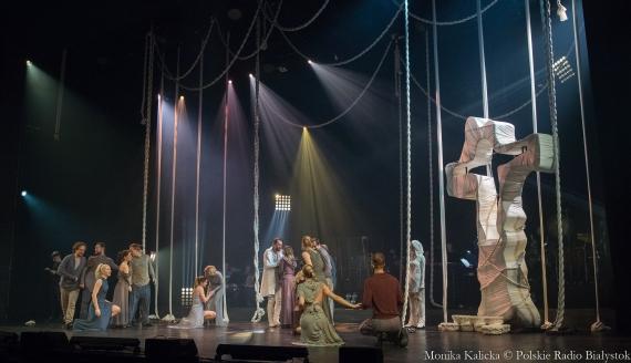 """Próba musicalu """"Jesus Christ Superstar"""" w Operze i Filharmonii Podlaskiej, fot. Monika Kalicka"""
