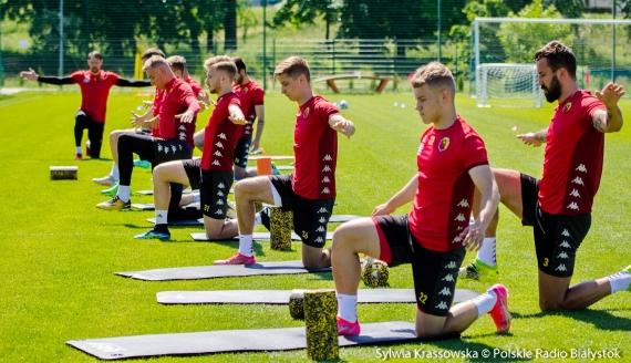 Piłkarze Jagiellonii Białystok rozpoczęli przygotowania do kolejnego sezonu, fot. Sylwia Krassowska