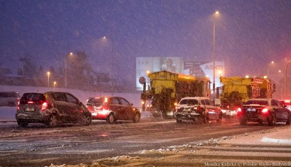 Intensywne opady śniegu w Białymstoku, fot. Monika Kalicka