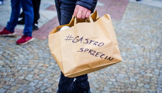 Protest branży gastronomicznej w Białymstoku, fot. Sylwia Krassowska