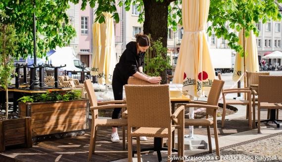 Białostoccy restauratorzy przygotowują się do otwarcia ogródków, fot. Sylwia Krassowska