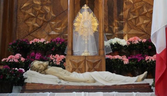 Grób Pański w Bazylice św. Rocha w Białymstoku, fot. Marcin Gliński