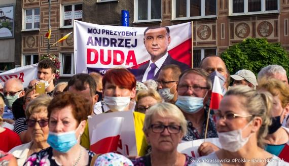Andrzej Duda w Białymstoku, fot. Sylwia Krassowska