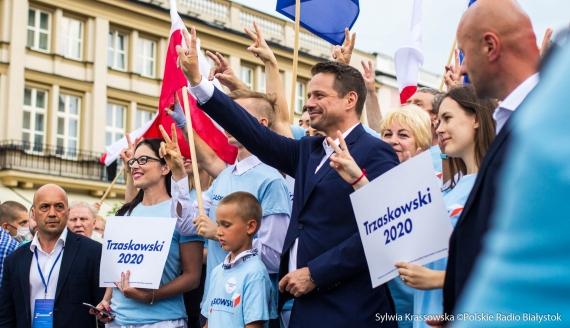 Rafał Trzaskowski w Białymstoku, fot. Sylwia Krassowska